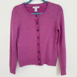 Banana Republic Merino fuschia cardigan size small